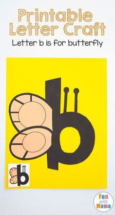 These printable letter b crafts for preschoolers and toddlers are fun free letter of the week activities. Preschool, Prek and kindergarten kids will enjoy this fun cut and paste activity that works on their fine motor skills and visual perception. Letter B Activities, Alphabet Letter Crafts, Letter Art, Letter B Coloring Pages, Printable Letters, Letter Templates, Free Printable, Teaching The Alphabet, Preschool Alphabet