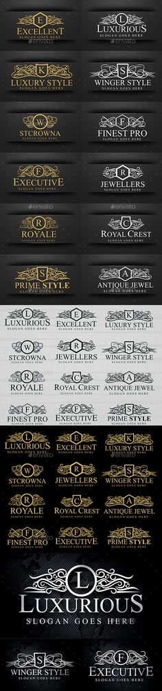 Royal Luxurious Crest Logos Template Vector EPS, AI. Download here: http://graphicriver.net/item/royal-luxurious-crest-logos/15782445?ref=ksioks