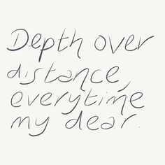 """Depth over distance ..."" ~Ben Howard ... and how true in yoga also."