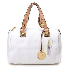 MICHAEL Michael Kors Grayson Large Satchel White