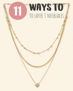 Stylish ways to wear Dainty Layered Necklaces with no tangling! Truly unique and unlike any necklace out there - Handmade in New York City. Dainty Jewelry, Cute Jewelry, Jewelry Crafts, Beaded Jewelry, Jewelry Necklaces, Handmade Jewelry, Jewelry Trends, Jewelry Accessories, Jewelry Design