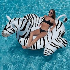 Floats and Rafts 181055: Swimline 90714 Giant 97.5 Inflatable Swimming Pool Zebra Ride-On Float -> BUY IT NOW ONLY: $39.95 on eBay!