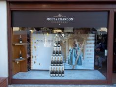 Moët & Chandon commissioned Toolbox Spatial Designer to decorate spirit stores for Christmas with their brand.