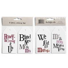 4 Lovely Wedding Luggage Honeymoon Mr & Mrs Gift Tags   eBay