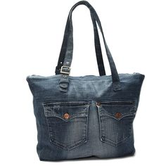 Jeans Shopper Jeans Denim, Denim Bag, Diy Bags Purses, Recycle Jeans, Quilted Bag, Bag Making, Centraal Station, Tote Bag, Sewing