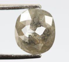 0.97 Ct, 6.4 X 5.7 X 3.0 MM, Oval Shape Gray Black Color Natural Loose Beautiful Diamond, Sparkling Diamond, Antique Diamond Ring, R699 by RusticDiamondWorld on Etsy