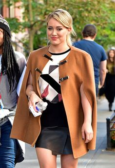 Hilary Duff nails the wool poncho for fall. Get more style inspiration in season 2 of Younger. Season premieres January 13th at 10/9C with a fan-demanded full hour of back-to-back episodes. Visit http://www.tvland.com/shows/younger to discover season one on TV Land.