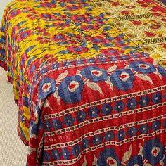 Picnic Blanket -Vintage Lightweight Beach Throw 2 Beach Blanket, Picnic Blanket, Linen Tablecloth, Kantha Quilt, Vintage Quilts, Cotton Quilts, Vintage Cotton, Hand Stitching, Beach Towel