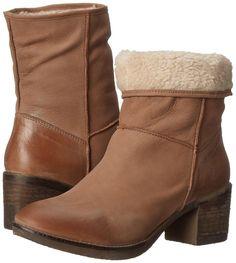 Report Signature Women's Fireside Brown Leather Winter Boot 8 Medium (B, M) US  #ReportSignature #MidCalfBoots