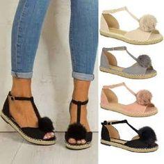 Sandales à boucle ajustable et grande taille Peep Toe