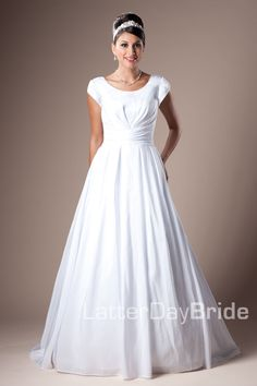 I'm obsessing over this website right now!!! IT'S ALL THE PERFECT DRESSES I COULD EVER WANT!! It's called LatterDayBride.com- the modest of modest wedding dresses! I APPROVE!!! I love these!!! <3 <3 <3