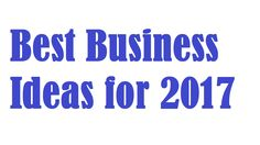 Best Business Ideas for 2017