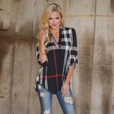 Absolutely Fabulous Plaid Top