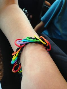 Rainbow loom creation by Mia