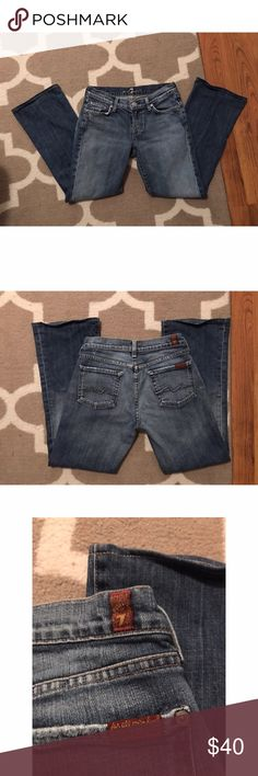 7 For All Mankind Bootcut Jeans. Barely worn 7 for all mankind jeans. Color on jeans is different than the one pictured but fits the same. Open to all offers! 7 For All Mankind Jeans Boot Cut