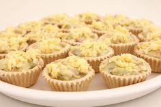 Tartalettur með skinku og aspas