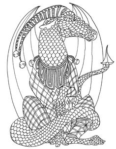 262 Best Adult Colouring~Dragons~Lizards~ Snakes