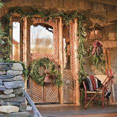 A Nature-Inspired Holiday in the Mountains | Woodsy Setting, Seasonal Style | SouthernLiving.com
