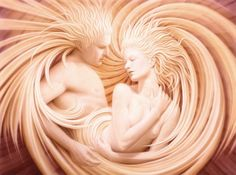 If you could see the energy of two people in love, this is what I think it would look like. :-)   . Nice! very nice ;)