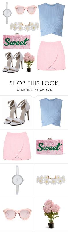 """""""Untitled #25"""" by thamyresfortunato ❤ liked on Polyvore featuring Miss Selfridge, Carven, Edie Parker, DKNY, Humble Chic, Karen Walker and National Tree Company"""