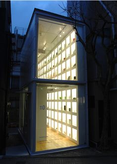 ±0 Gallery in Tokyo. Great idea for some strategic urban infill.