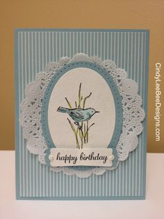 SU Simply Sketched Blue Bird Birthday - hydrangea - best of flowers - nice bird! Bird Cards, Butterfly Cards, Flower Cards, Quilling, Sympathy Cards, Greeting Cards, Stamping Up Cards, Shabby, Happy Birthday Cards