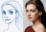 Have your pic drawn like a Disney character - $15 for color or only $5 for b/w.  really cute idea - to frame in a girl's room.