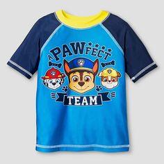 Toddler Boys' PAW Patrol® Short-Sleeve Rash Guard - Turquoise : Target