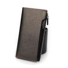 Sale 11% (33.91$) - PABOJOE Brand Men Genuine Leather Wallet Purse Clutch Card Holder