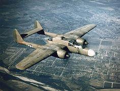 First flight of the Northrop P-61 Black Widow night fighter 26/5 1942.