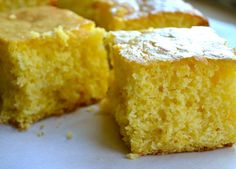 Sweet Corn Bread - Jiffy and Yellow Cake Mix Recipe - the family fave.