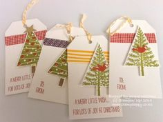 Stampin up festival of trees tags easy
