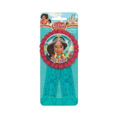 Celebrate your little one's achievements with this Disney's Elena Confetti Award Ribbon! It's a great way to make the birthday girl stand out at . Princess Birthday Party Decorations, Disney Princess Birthday Party, Girl Birthday, Party Games, Party Favors, Disney Princess Games, Girl Standing, Oriental Trading, Games For Girls