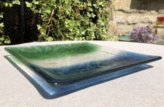 Blue/Green Square Plate
