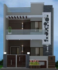 House front elevation design modern 44 Ideas for 2019 Bungalow House Design, House Front Design, Small House Design, Modern House Design, Front Gate Design, Entrance Design, Front Elevation Designs, House Elevation, Building Elevation