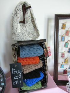 scarf display idea via Homemakin and Decoratin