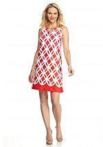 Madison Leigh Printed Scuba Shift Dress