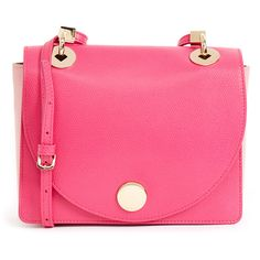 Furla Diva Hot Pink Cross-Body Bag (€165) ❤ liked on Polyvore featuring bags, handbags, shoulder bags, pink, leather purses, pink leather handbags, crossbody purses, pink crossbody and pink leather purse