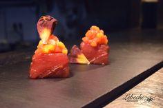 Tataki Ryoma de atún rojo, papaya y mango