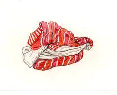 """""""Ikea Comforter"""" by Joey Veltkamp.   #orange #seattleartist #drawing #blanket #art"""