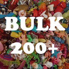 BULK Grab Bag of charms, beads, trinkets, nic-nacs, doodads (qty 200) wholesale by HighPie on Etsy