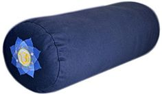YogaAccessories Supportive Round Cotton Yoga Bolster - Blue Embroidered Large size: long x diameter; cotton filling and cover Long and firm cylinder shape Zippered case is machine washable Handles on each end Yoga Bolster, Bolster Pillow, Pillows, Yoga Block, Cylinder Shape, Pillow Reviews, Yoga Accessories, Buyers Guide, The Ordinary