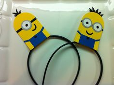 Minion party headband / dispicable me favors / by TheCandyBarn, $18.00