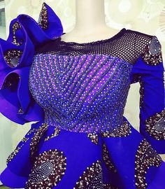Checkout Statement Ankara Peplum Tops - Ankara collections brings the latest high street fashion online African Lace Styles, African Lace Dresses, African Dresses For Women, African Attire, African Dress Designs, African Style, African Women, Latest African Fashion Dresses, African Print Fashion