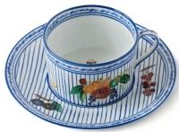 Potager Blue Breakfast Cup & Saucer - Alberto Pinto - www.fxdougherty.com