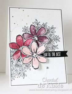 Love for Stamping: Stamp Stories # 3 Flowers Cool Cards, Diy Cards, Flower Cards, Paper Flowers, Karten Diy, Card Maker, Card Sketches, Homemade Cards, Stampin Up Cards