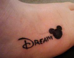 disney foot tattoo