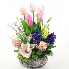 Diy Flowers, Flower Vases, Spring Flowers, Flower Decorations, Vase Arrangements, Flower Making, Easter Crafts, Flower Designs, Ideas