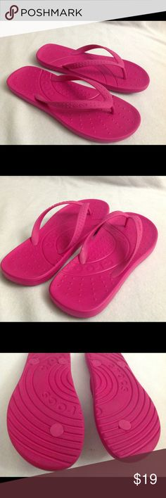 Pink Crocs flip flops size 7 Excellent condition. CROCS Shoes Sandals
