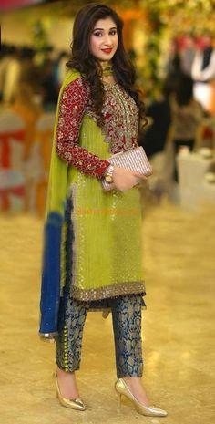Check Out DESIGNER Latest Embroidered Festive Chiffon Collection Replica at Master Replica Pakistan Call/WhatsApp: Pakistani Dresses 2017, Shadi Dresses, Pakistani Wedding Outfits, Pakistani Dress Design, Indian Dresses, Indian Outfits, Kalamkari Dresses, Wedding Dresses For Girls, Party Wear Dresses